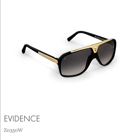 974ed2cf68fa1 Louis Vuitton Accessories - Louis Vuitton Evidence Sunglasses Black and Gold .